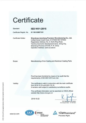 Certificate ISO9001:2015-01